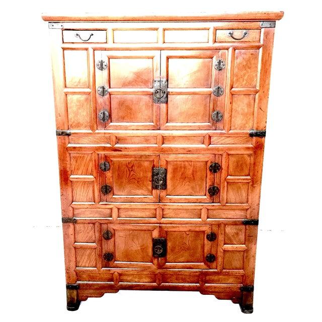 Amazing Antique 19th Century Korean | Chinese | Japanese Tansu Cabinet Iron Pulls and Hardware - Image 3 of 9