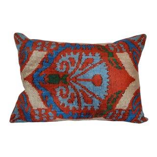 """Bena"" Silk Velvet Ikat Pillow"