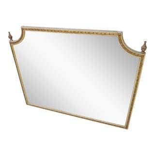 Carved Bellflower Mantle Mirror