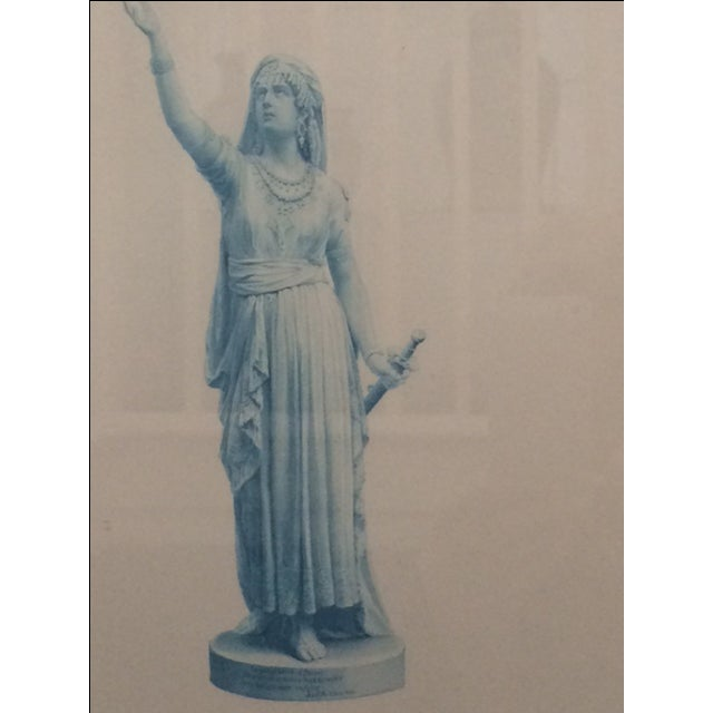 """Antique Collectors """"Judith"""" Statue Engraving - Image 3 of 5"""