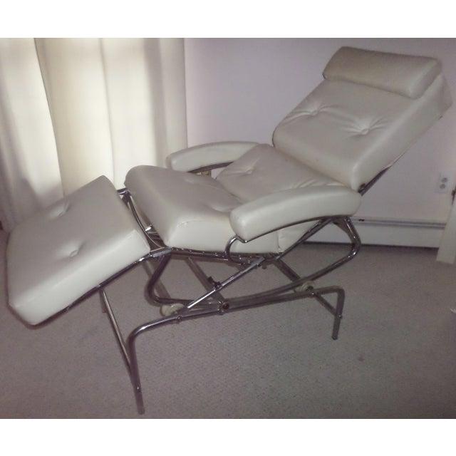 Vintage 1960s Lama Chrome Lounge Massage Chair - Image 2 of 7