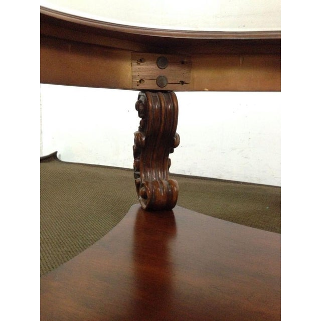 Rococo-Style Carved Mahogany Coffee Table - Image 7 of 7