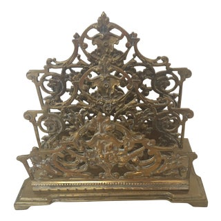Decorative Brass Ornate Letter Holder