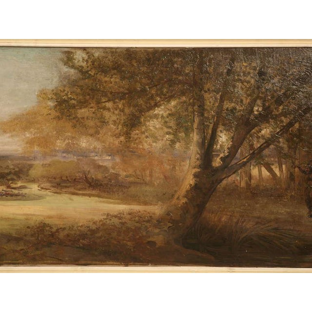"""Image of Amazing 9'8"""" Original Antique French Panoramic Oil Painting on Linen"""