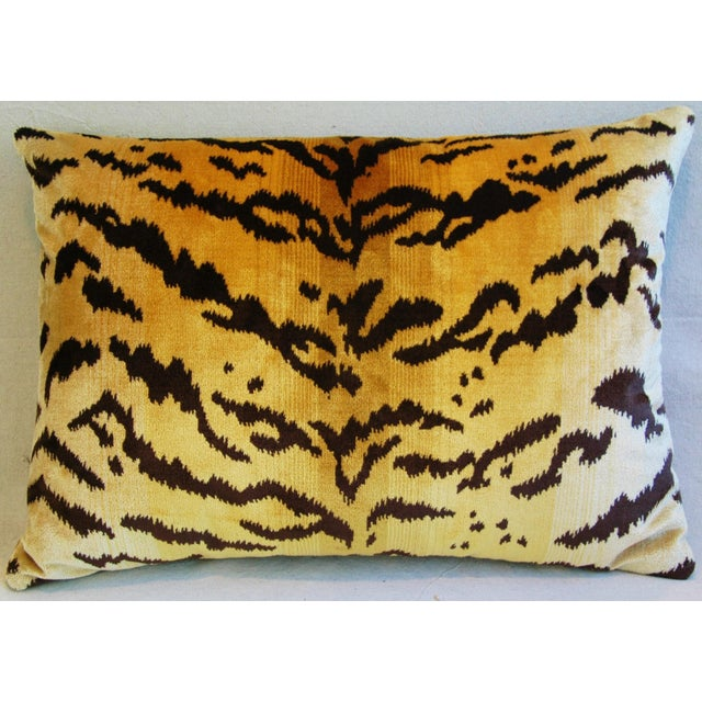 Italian Tiger Stripe & Mohair Pillow - Image 5 of 5