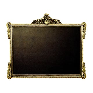Gold Rectaular Chalk Board