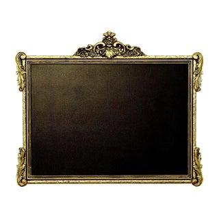 Gold Rectaular Chalk Board