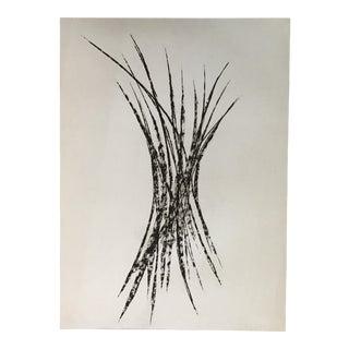 Original Modern Charcoal Drawing