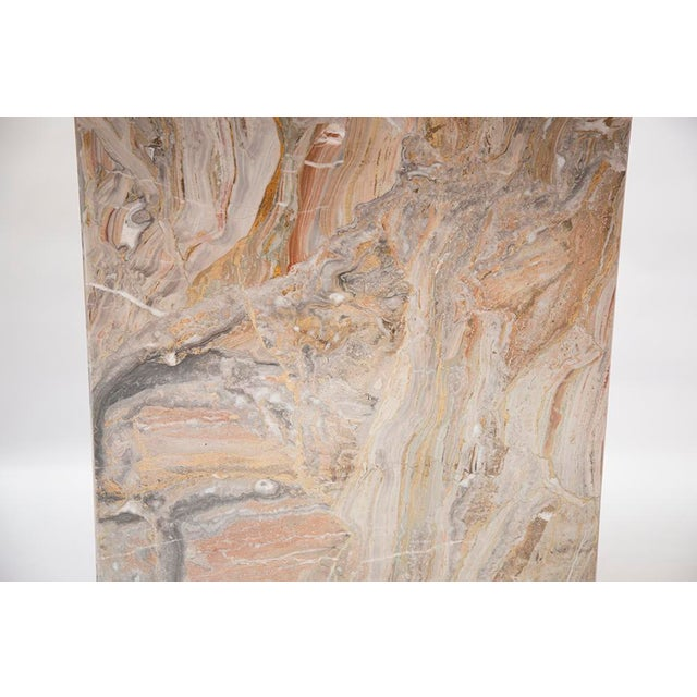 Variegated Marble Console Table - Image 8 of 10