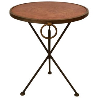 Italian Folding Campaign Style Drinks Side Table