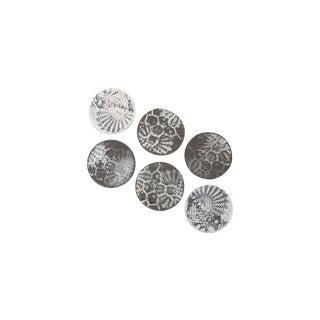 Black And White Porcelain Coasters - Set of 6