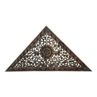Antique Burn Triangle Carved Panel Medium