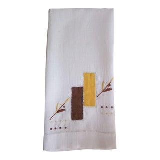 Mid Century Modern Linen Hand Towel
