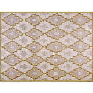 Geometric Navajo-Style Wool Rug - 9′ × 12′