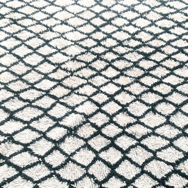 "Gina Moroccan Beni Ourain Rug - 3'7"" x 4'9"" - Image 3 of 5"