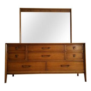 Drexel Meridian Triple Dresser & Mirror