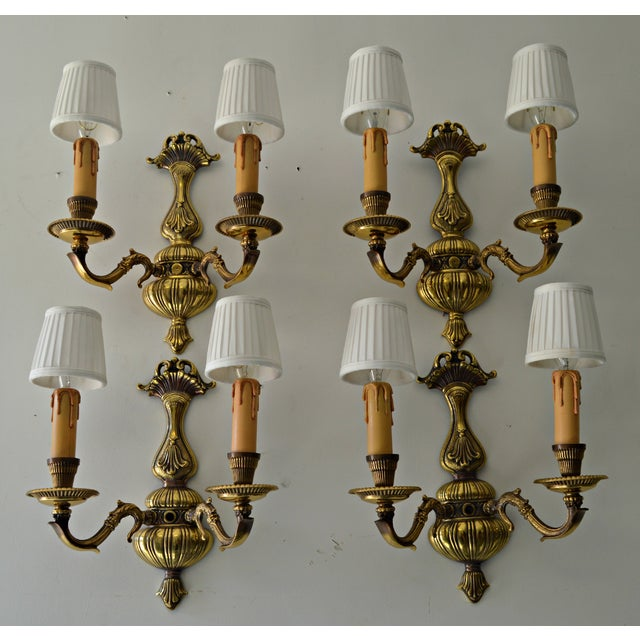 French Boudoir Sconces - Set of 4 - Image 6 of 8