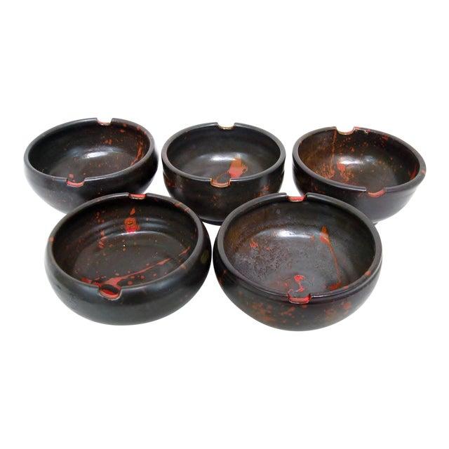Japanese Ceramic Rice Bowls - Set of 5 - Image 1 of 7