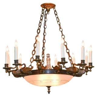 Antique French Empire 12-Arm Chandelier
