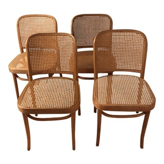 "Bentwood & Cane ""Prague Chairs"" - Set of 4"
