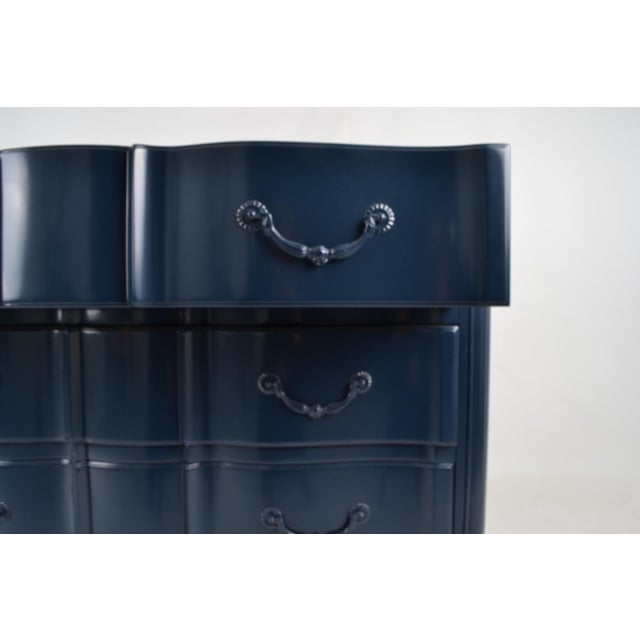 Blue Lacquered French Style Commode - Image 4 of 9