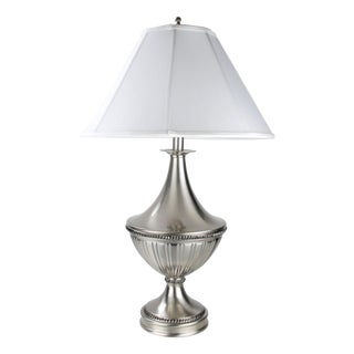 Stiffel Metal Table Lamp & Cotton Shade