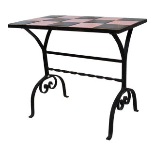Vintage California Tile Accent Table