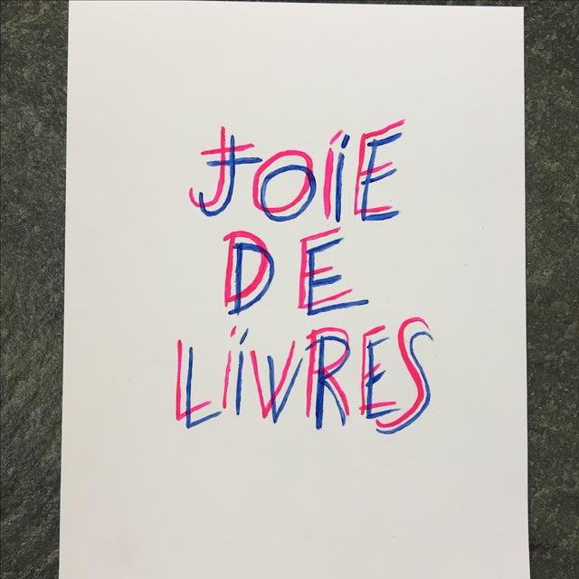 """Joie De Livres"" Modern Print - Image 2 of 5"
