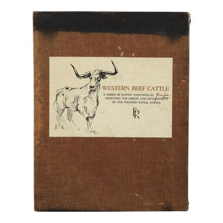 Western Beef Cattle: A Series of Eleven Paintings by Tom Lea