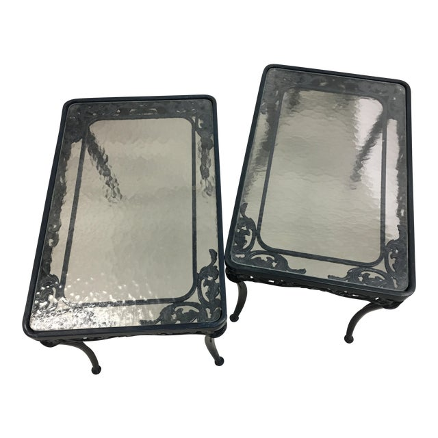 Image of Brown Jordan Side Tables - A Pair