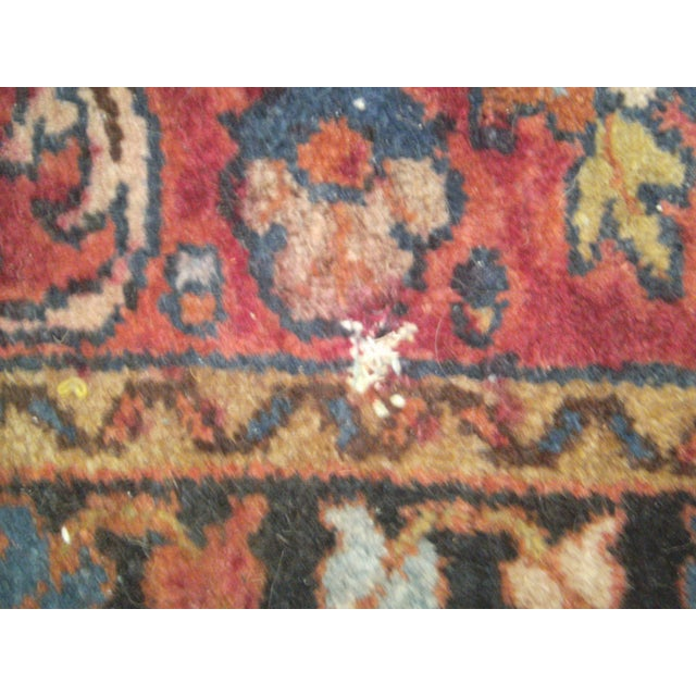 Small Traditional 1900s Red Blue Rug - 2'' x 2'' - Image 7 of 8