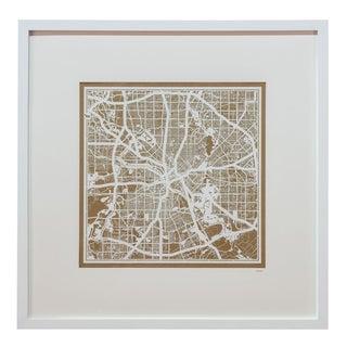 Sarreid LTD Los Angeles Framed Map