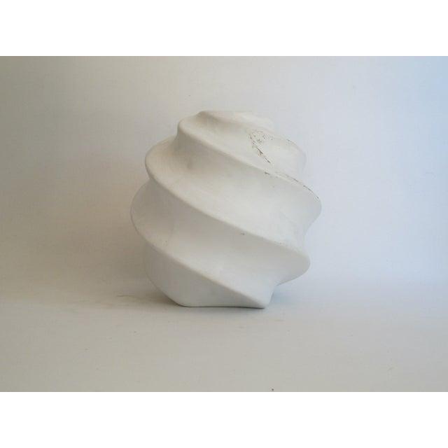 White Sculptural Ceramic Candle Holder - Image 5 of 6