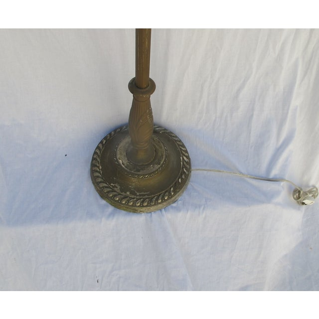 Image of Antique 1920s Torch Floor Lamp