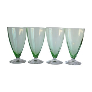 Green Optic Glasses - Set of 4