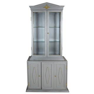 Neoclassical-Style Silver Cabinet
