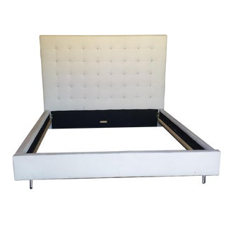 Studded Crystal Ivory King Bedframe