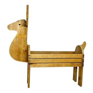 Handmade Wooden Reindeer Planter