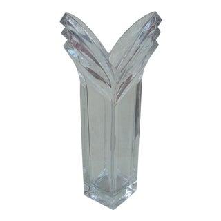 Mikasa Clear Crystal Vase