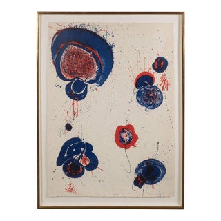 Chinese Planet Lithograph by Sam Francis, 1963