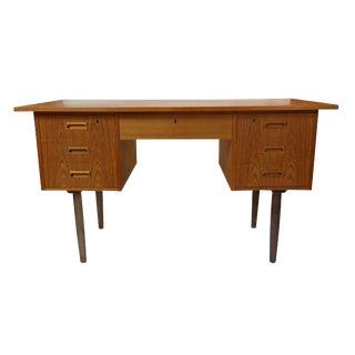Danish Modern 7 Drawer Teak Desk