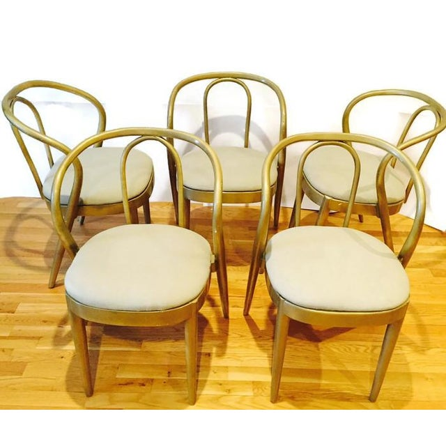 Vintage Modern Bentwood Dining Chairs - Set of 5 - Image 9 of 11