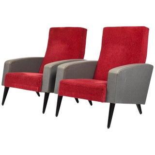 Vintage Pierre Guariche Style Armchairs- A Pair