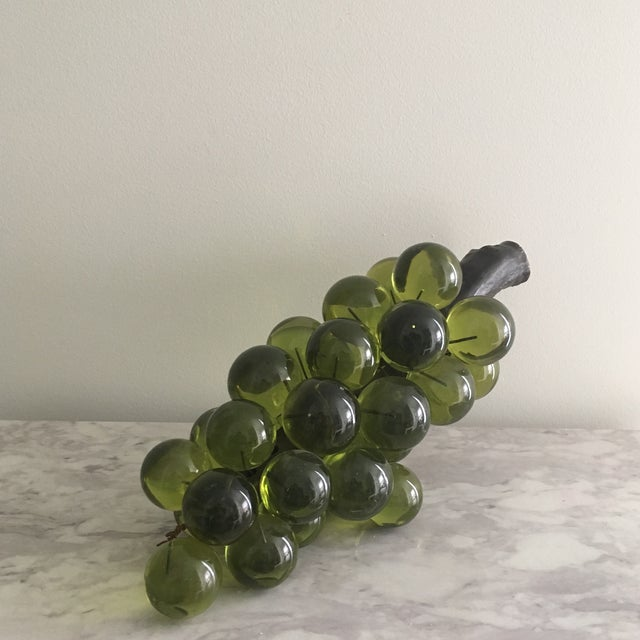 Oversized Green Lucite Grapes - Image 4 of 4