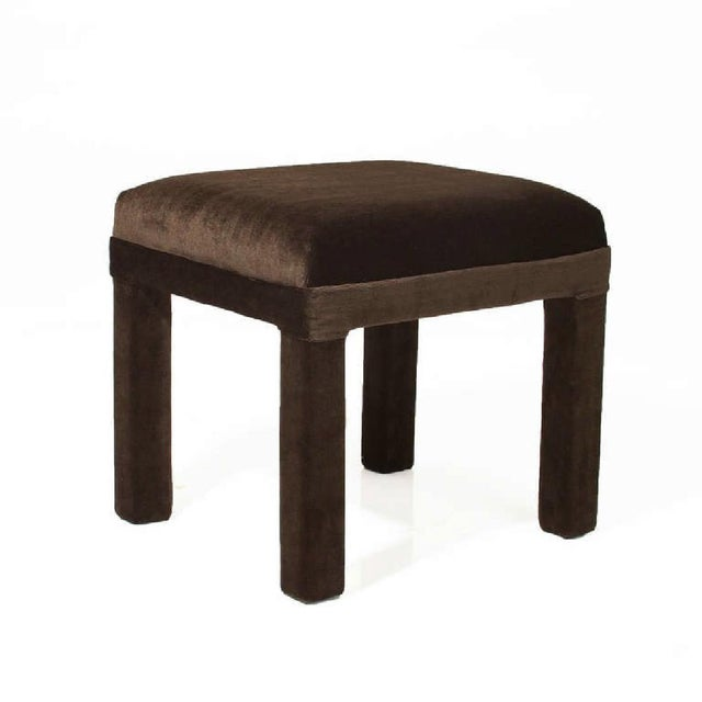 Mid-Century Sorrel Mohair Stools - A Pair - Image 3 of 4