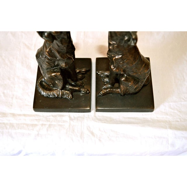 Image of JB Hirsch 1925 Le Loup 'The Wolf' Bookends - 2