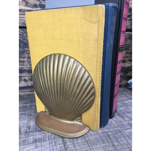 Vintage Brass Shell Bookends - A Pair - Image 4 of 7