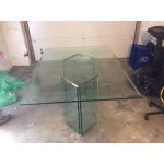 Image of Leon Rosen Sculptural Glass Dining Table