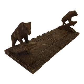 1890s Black Forest Bear Sliding Book Stand