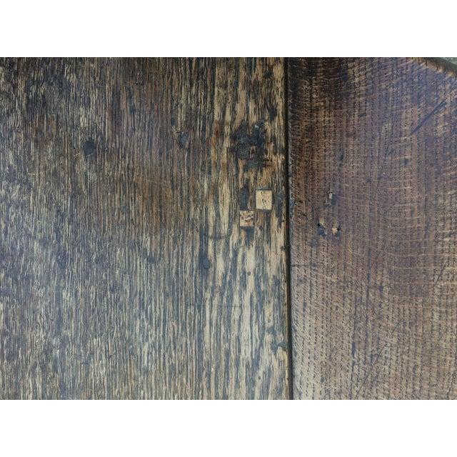 Antique 19th C. English Oak Drop-leaf Gate Leg Table - Image 8 of 10